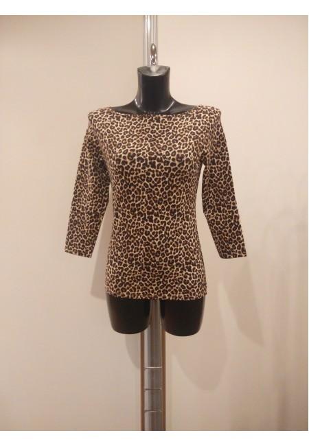 Ballroom Practice Leopard Print Leotard