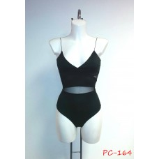 Mesh Paneled Leotard