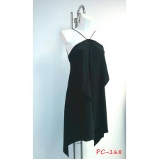 Halterneck Draped Dress