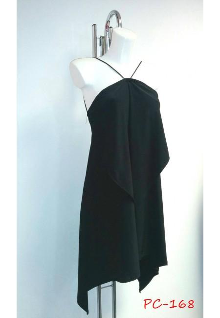 Halterneck Draped Dress